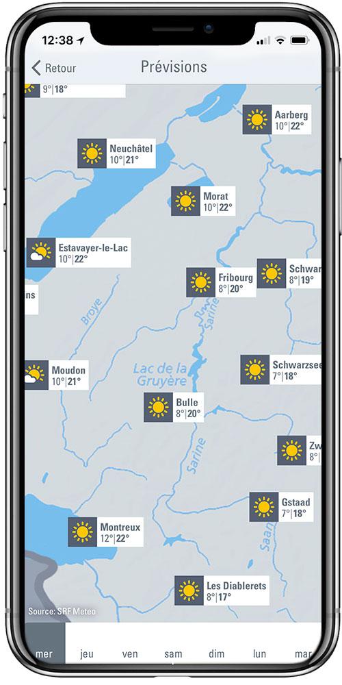 Cartes & prévisions météorologiques