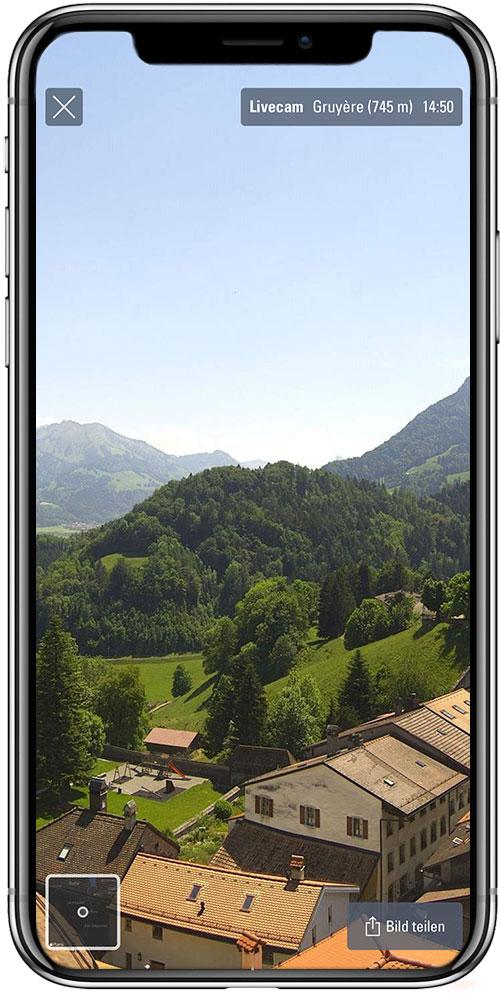 Livecam von über 200 Standorten in der Schweiz